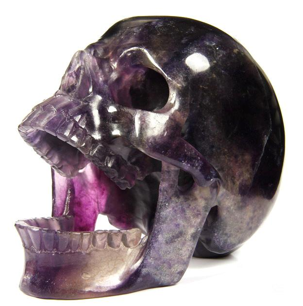 Fluorite Crystal Laughing Skull