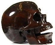 "Huge 5.2"" Chinese Bloodstone Carved Crystal Singing Skull"