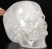 "63.8LB TITAN 13.9"" Quartz Rock Crystal Carved Crystal Skull, Super Realistic"