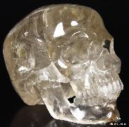 "HUGE 5.8"" Smokey/Smoky Quartz Rock Crystal Carved Crystal Skull, Super Realistic"
