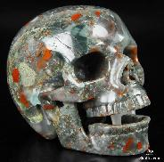 "HUGE 5.1"" African Bloodstone Carved Crystal Singing Skull"