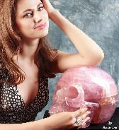 "Titan 12.3"" Rose Quartz Carved Crystal Skull, Realistic"