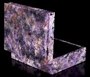 "4.2"" Russian Charoite Carved Crystal Jewery Box, Crystal Healing"