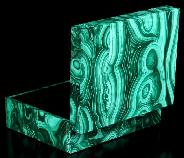 "4.1"" Malachite Carved Crystal Jewery Box, Crystal Healing"