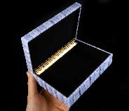 "6.1"" Blue Lace Agate Carved Crystal Jewelry Box, Crystal Healing"