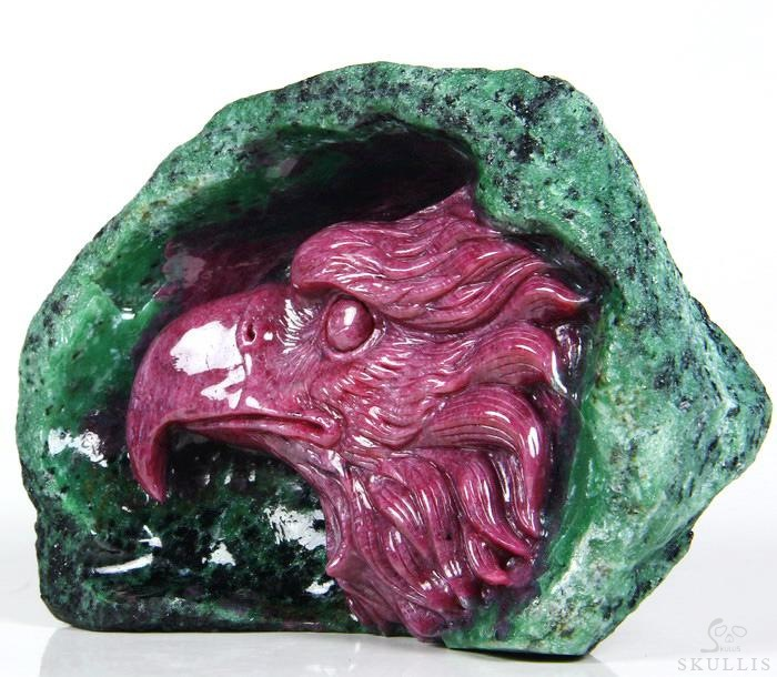 Ruby Crystal Eagle Sculpture