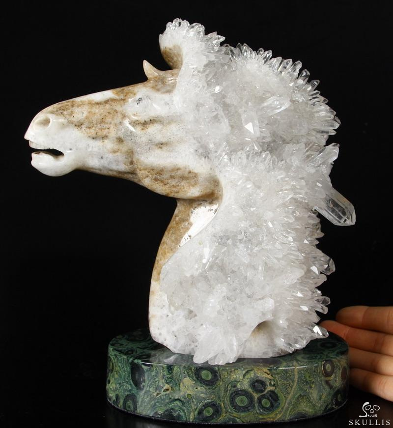 Quartz Druse Crystal Horse Head
