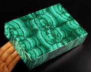 "7.1"" Malachite Carved Crystal Jewery Box, Crystal Healing"