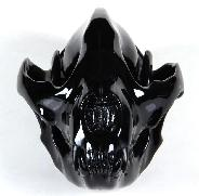 "Huge 8.0"" Black Obsidian Carved Crystal Panda Skull"