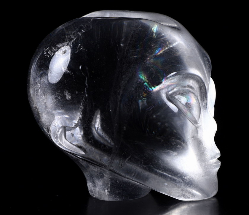 Quartz Rock Crystal Crystal Female Alien Skull