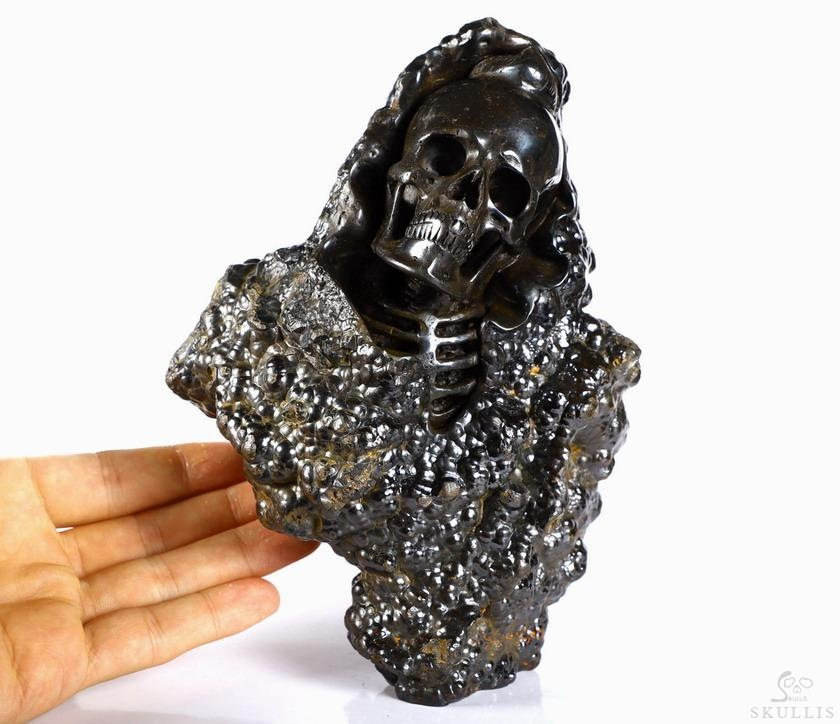 Pyrite Crystal Skulls Sculpture