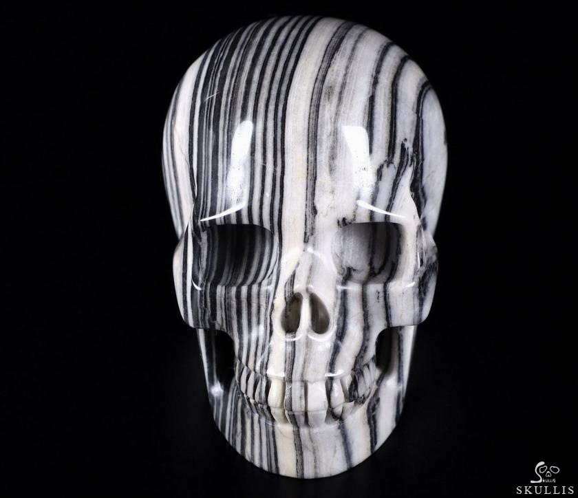 Black Woodlike Crystal Skull
