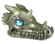 "Huge 5.2"" Pyrite Carved Crystal Skull With Labradorite Eyes, Realistic, Crystal Healing"