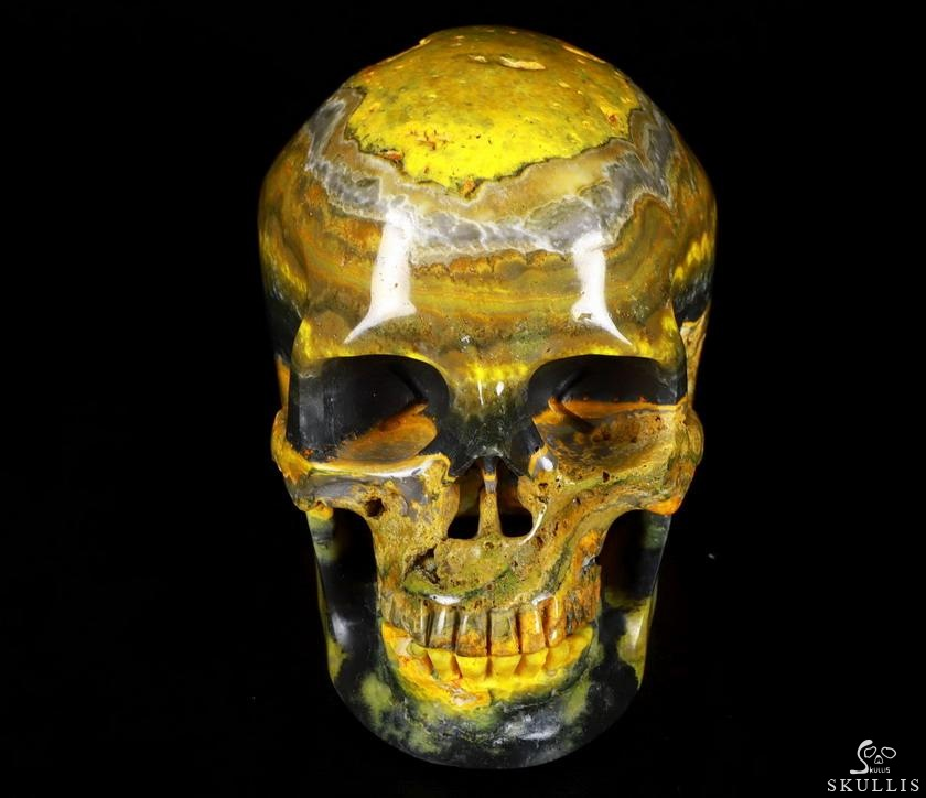 Bumble Bee Jasper Crystal Detachable Skull