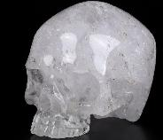 "Huge 4.6"" Quartz Rock Crystal Carved Crystal Skull Without Jaw,Super Realistic, Crystal Healing"