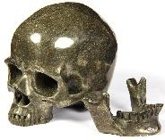 Oct 8, 2014 ACSAD (A Crystal Skull a Day) - To Speak Is To Create - Pyrite Carved Crystal Skull with Detachable Jaw Sculpture