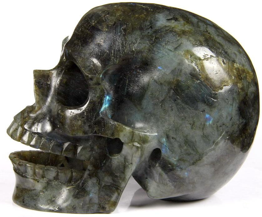 Labradorite Crystal Singing Skull