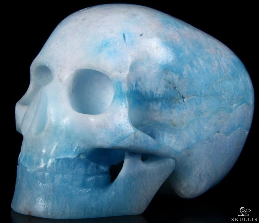 Blue Aragonite Crystal Mitchell-Hedges Skull