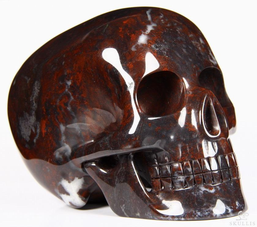 Chinese Bloodstone Crystal Mitchell-Hedges Skull