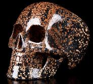 "Huge 5.1"" Brown Snowflake Carved Mitchell-Hedges Crystal Skull Replica, Skull of Doom"