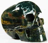 "4.6"" Ocean Jasper Carved Crystal Mitchell-Hedges Skull, Realistic"