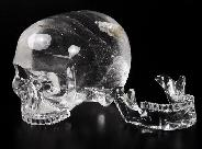 "6.0"" Quartz Rock Crystal Carved Crystal Mitchell-Hedges Skull, Realistic"
