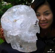 "TITAN 13.2"" Quartz Rock Crystal Carved Crystal Skull"