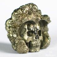 Unusual Hue, Metallic Luster, Original Pure Pyrite Skulls