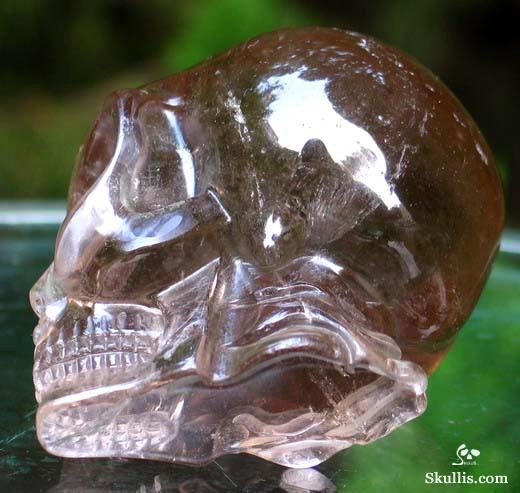 Smokey Quartz Crystal Alien Skull