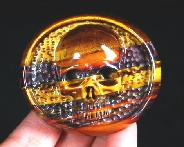 "2.3"" Tiger Iron Eye Carved Crystal Skull Buckle"