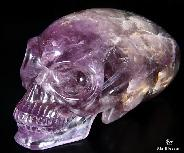 "GIANT 8.8"" Amethyst Carved Crystal Skull"