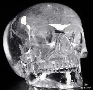 "Giant 8.3"" Quartz Rock Crystal Carved Mitchell-Hedges Crystal Skull Replica, Skull of Doom"