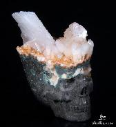 "Mineral Specimen 1.5"" Harmotome Carved Crystal Skull, Realistic"