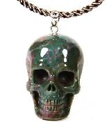 Indian Agate Carved Crystal Skull Pendant