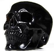 TITAN 7.6'' Rainbow Obsidian Carved Crystal Skull, Super Realistic