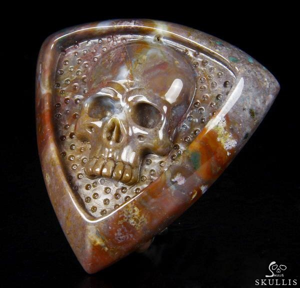 Indian Agate Crystal Skull Buckle