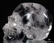 "Huge 5.3"" Clear Quartz Rock Crystal Carved Crystal Skull, Top Quality"