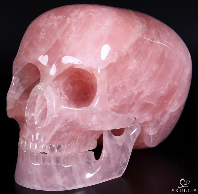 Rose Quartz Mitchell-Hedges Crystal Skull Replica
