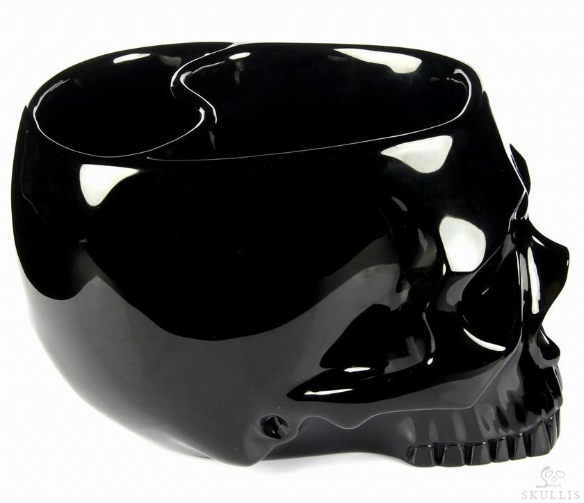 Black Obsidian Crystal Skull Coffee Jar