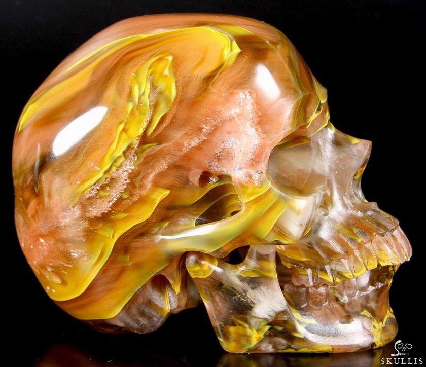 Smelted Quartz Crystal Detachable Skull