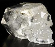 "6.6"" Quartz Rock Crystal Carved Crystal Skull Wand/point, Realistic, Crystal Healing"