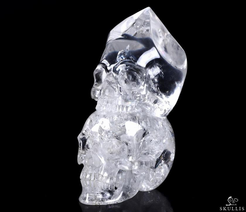 Quartz Rock Crystal Double Skull