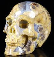 "1.5"" Argentina Blue Stone Carved Crystal Skull, Realistic"