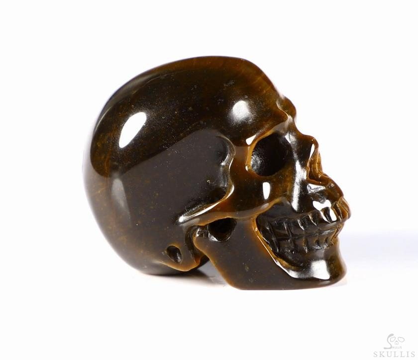 Tiger Iron Eye Crystal Skull