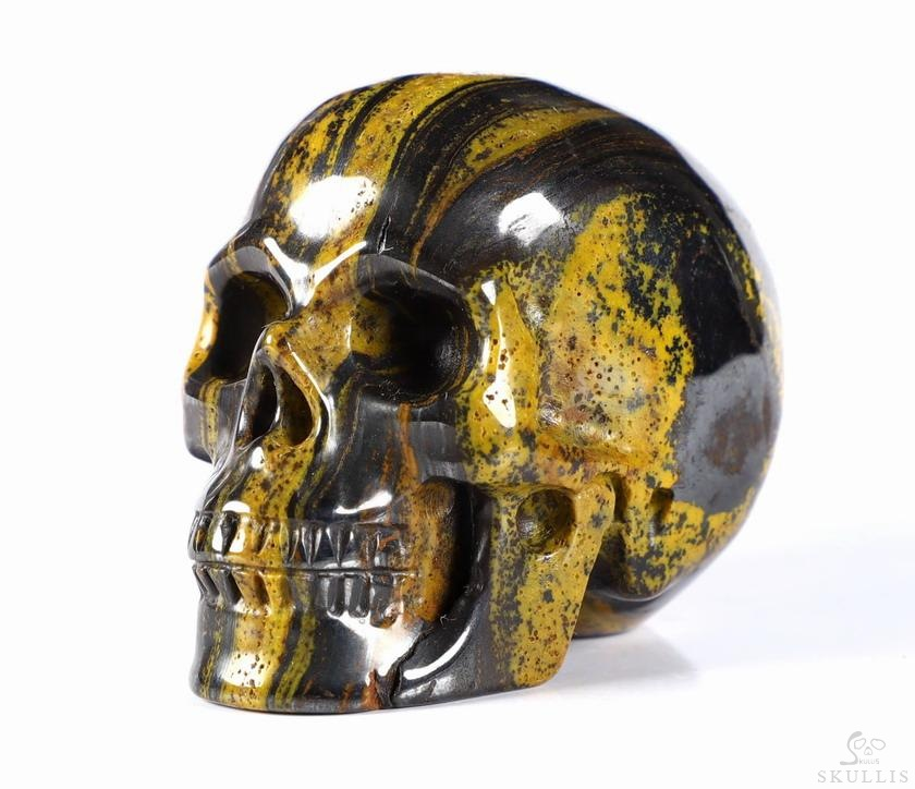 Colorful Tiger Iron Eye Crystal Skull
