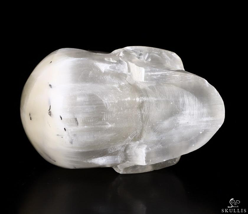 Selenite Crystal Skull