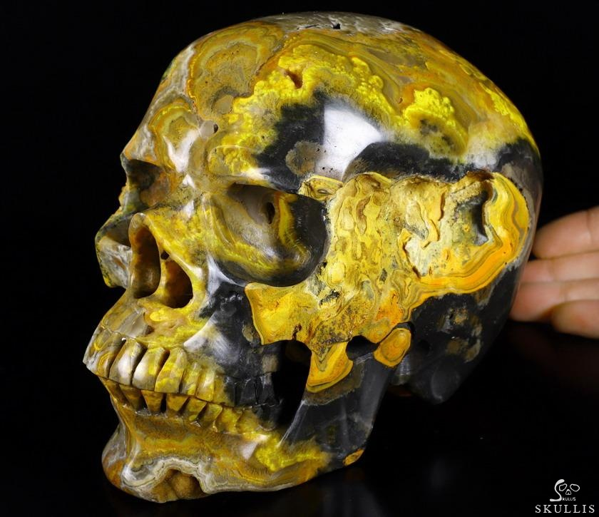 Bumble Bee Jasper Crystal Skull
