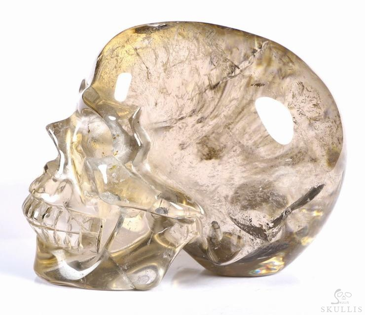 RAINBOW Smoky Quartz Rock Crystal Crystal Skull