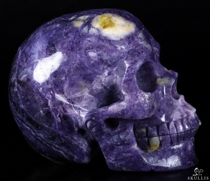 Purple Fluorite Crystal Skull