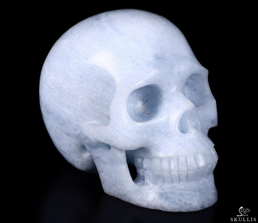 Blue Calcite Crystal Skull